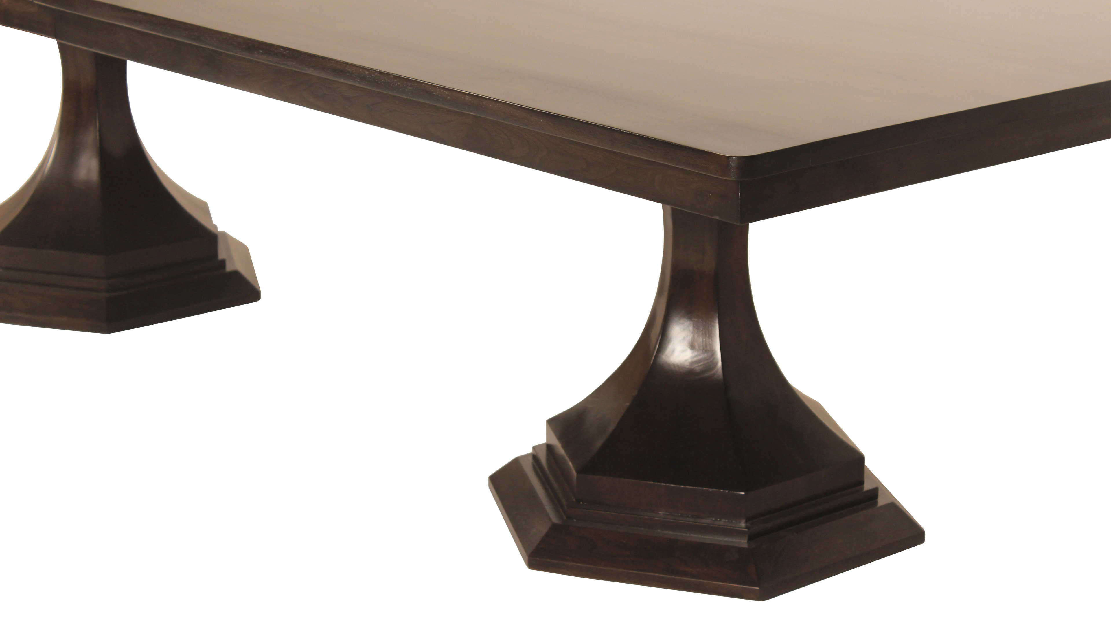 industrial tables double dining bakersfield vermont shop pedestal table